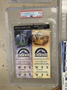 1993 Colorado ROCKIES TICKET stub 1st HOME NIGHT GAME MILE HIGH rare 1/1 4/12/93