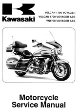 Kawasaki Vulcan 1700 Voyager VN1700 2009 2010 2011 2012 service manual on CD