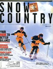Snow Country Magazine January 1997 Better Balance EX No ML 102416jhe