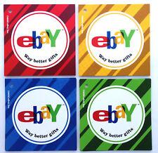 "eBayana 2003 set of 4 gift tags ebay Way better gifts 3""x3"" unused"