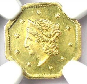 1854 Liberty California Gold Dollar G$1 BG-508. NGC Uncirculated Detail (UNC MS)
