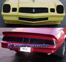 Fits 78-81 Camaro GTS Smoke Acrylic Headlight Taillight & Center Panel Cover 7pc