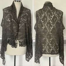 Preloved - Green Oversized Made In Italy Lace Top - One Size