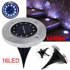 16LED Solar Powered LED Buried Inground Recessed Light Garden Outdoor Path