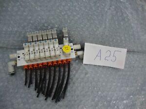 SMC SY5120-6LZD-01 5 Puerto Sello de Goma Solenoide Válvula 12 VDC