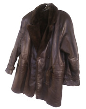 EDWARDS-LOWELL Men's Leather Fur Lined PARKA Coat Outerwear M