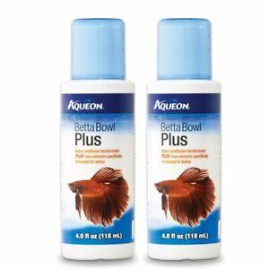 Aqueon Betta Bowl Plus Water Conditioner & Dechlorinator (2 Pack)