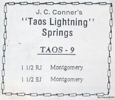 12 Taos #9 Lightening Spring 4-Coil Kit,Fits Mont #1 1/2 sq or rd jaw trap. A109