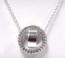 Retired Hollow Pendant Small Rhodium Plating Swarovski Jewelry #5349348