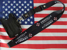Resident Evil Umbrella Lanyard Neck Strap Two Sided Id Holder Card Holder Black