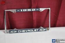 1952 Chevy Chevrolet GM Licensed Front Rear Chrome License Plate Holder Frame