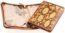 NWT ELLIOTT LUCCA $68 PYTHON PRINT LEATHER E-READER ZIP COVER CASE KINDLE NOOK