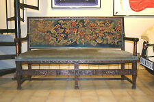 19th Century Sofa/Bench with Original Needlepoint Detail and Upholstery