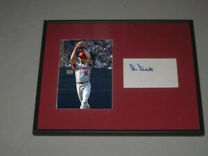 Don Gullett Signed Framed Matted Index Card Cincinnati Reds Baseball Hologram