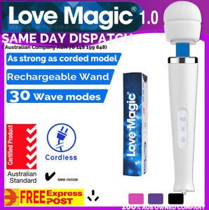 30 Modes CORDLESS C-TICK Magic Wand 1.0 Body Personal Massager Full Express AU