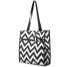 Lightweight All Purpose Travel Laundry Shopping Zipper Utility Shoulder Tote Bag