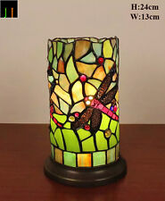 EOFY Special  - Dragonfly Handcrafted Tiffany Stained Glass Mini Table Lamp