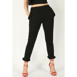 Fitted Frill Hem Trousers. Available in sizes 8-14. True to size.
