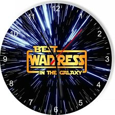 Best Waitress in the Star Galaxy Space Kitchen Living room Wall Clock
