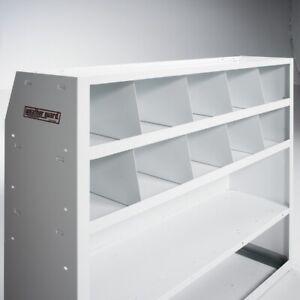 Weather Guard 8401-3-01 Van Storage Shelf Bin Divider Set of 8