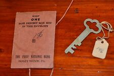 Vintage Safe Deposit Box Key Envelope Sargent & Greenleaf First National Bank
