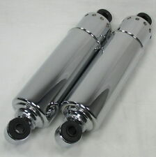 "CHROME 12"" REAR OEM Shocks 1973-1986 Harley Big Twin Motorcycle Chopper Bobber"