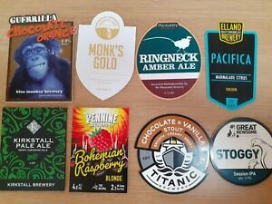 8 DIFFERENT PUMP CLIPS FROM VARIOUS MICROBREWERIES