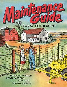 Caterpillar Maintenance Guide Farm Equipment D2 Cartoon