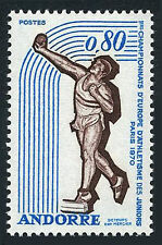 Andorra French 198, MNH.1st European Junior Athletic Championships.Shot put,1970