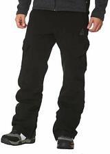 Gerry Mens Fleece Lined Snowboard Ski Snow Pants Stretch Black Medium