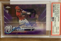 2018 Topps Chrome VICTOR ROBLES Rookie Autograph Purple Refractor 119/250 PSA 10