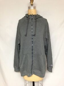 Champion Women's Plus Size Fleece Full Zip Hoodie Jacket QJ4853 Granite heat NWT