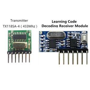 433Mhz Wireless RF 4Channel Receiver & Transmitter EV1527 Arduino / Pi etc.