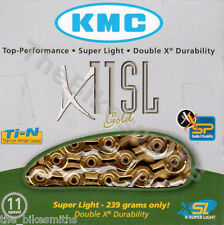 KMC X11SL GOLD Ti 11 Speed Road Bike Chain fit SRAM Shimano Campagnolo UNCUT NIB