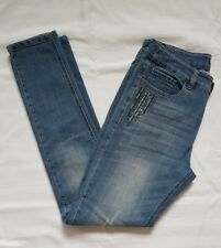 Ladies Size 10 Blue Skinny Leg Jeans with Bling - Katies