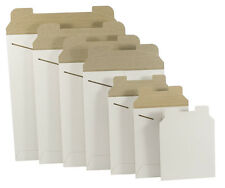 "100 -17"" X 21"" White Original Stay flat Rigid Tab Lock Photo Mailer Envelopes"
