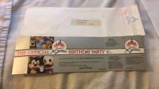 Disneyland 30th Birthday Celebration Commemorative Ticket NEW 1985