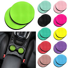 2Pcs Round Colorful Absorbent Neoprene Cup Holder Car Coasters 2.87 inches