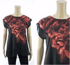 ex Coast Top - Coast Carmen Print Floral Capped Sleeve Loose Top