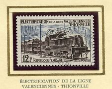 STAMP / TIMBRE FRANCE OBLITERE N° 1024 TRAIN / LIGNE VALENCIENNES THIONVILLE