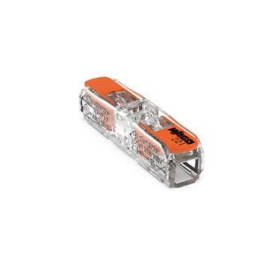 WAGO 221-2411 I 2-Leiter-Klemme I Durchgangsverbinder Klemme mit Hebel