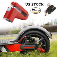 2 x Scooter Bike Bicycle Motorcycle Safety Anti-theft Disk Disc Brake Rotor Lock