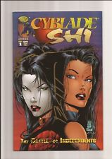 CYBLADE/SHI: THE BATTLE FOR INDEPENDENTS #1 VF+ 8.5 1ST WITCHBLADE! *4x SIGNED*