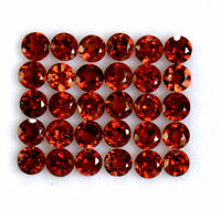 Natural Red Garnet 4mm Faceted Round Cut Loose Lot AAA Gemstone