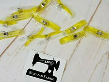 Pack of 50 Wonder Clips Yellow for Stretch Knits Quilting Sydney Stock