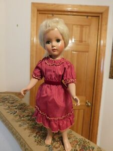 """Nancy Lee by Arranbee 20"""" Vintage Composition Doll Mohair Wig Nice"""