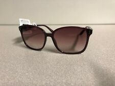 90ae9d73b0 New ELLE Women s Designer Sunglasses Burgundy Frame Gradient Brown Lens