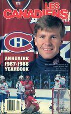 1987-88 MONTREAL CANADIENS YEARBOOK MEDIA GUIDE BILINGUAL W/ PATRICK ROY Naslund