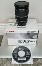 Canon EF-S 17-55mm F2.8 IS USM Zoom Lens Boxed w/ Front & Rear Caps VGC