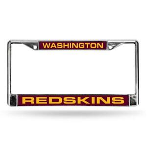 Washington Redskins Laser Cut Metal License Plate Frame [NEW] NFL Car Auto Tag